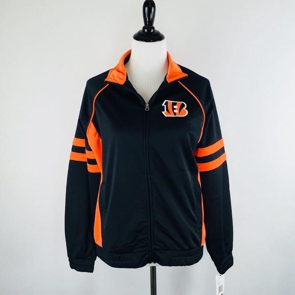 NFL Cincinnati Bengals Womens Track Jacket Size L 337cbbcfe3